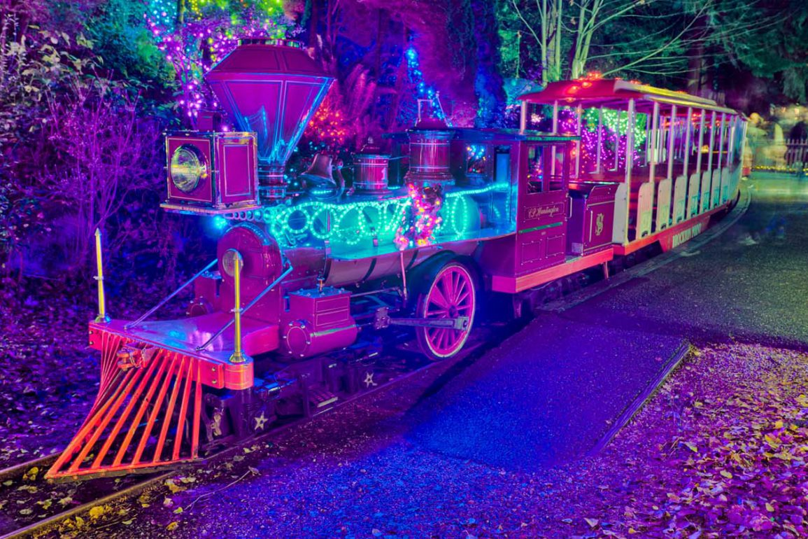 Bright Nights train at Stanley Park