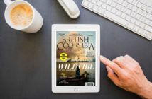 Digital Version of the Spring 2018 issue of British Columbia Magazine on an iPad.