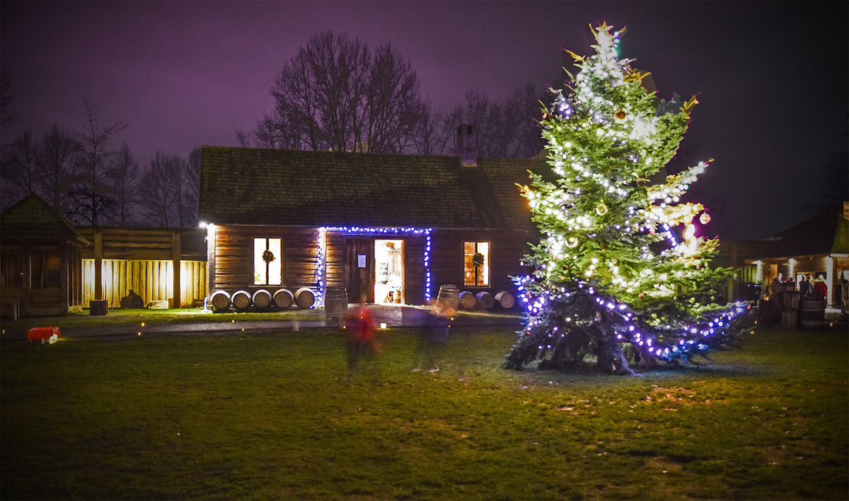 See Fort Langley light up this holiday season. Photo courtesy Tourism Langley.