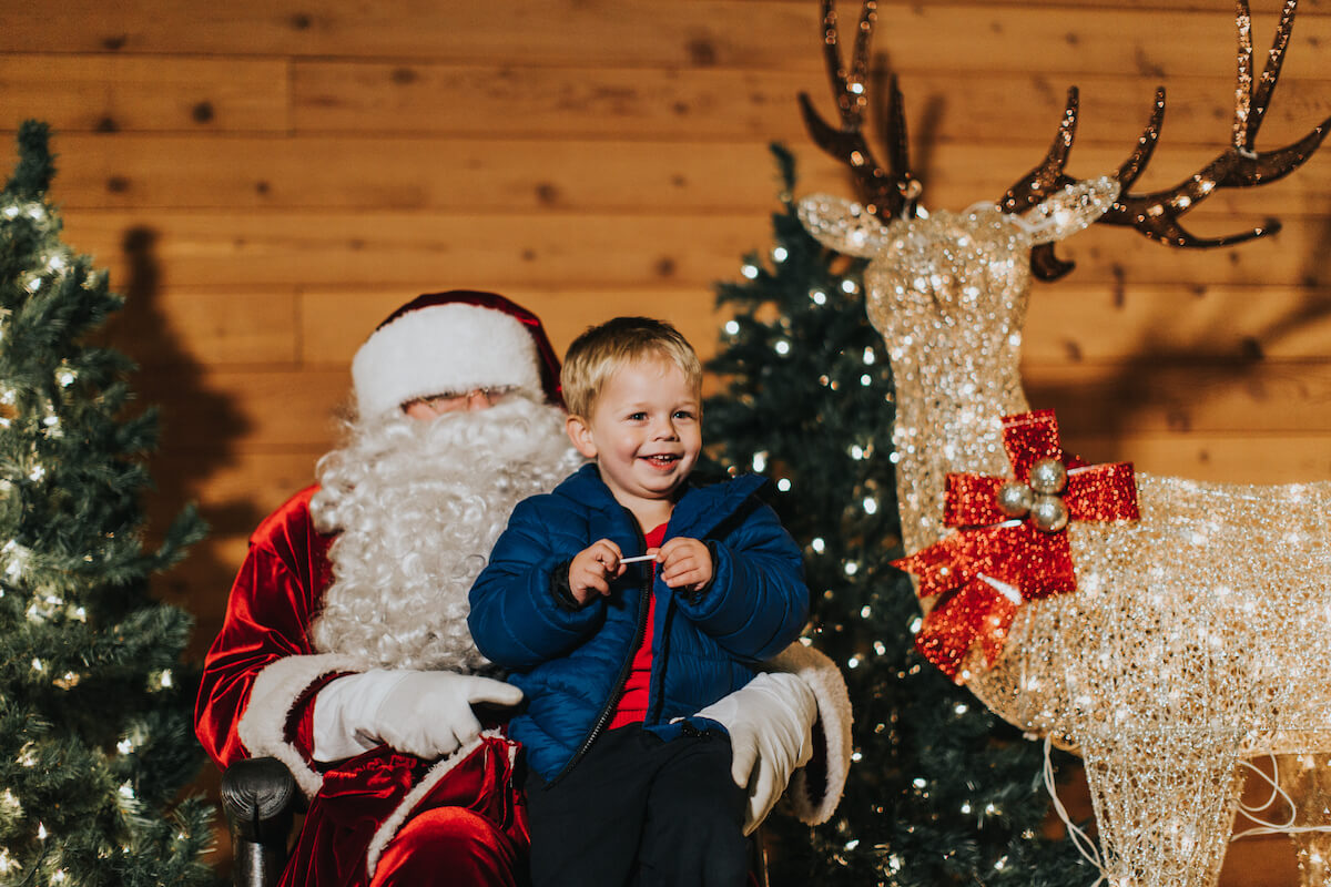 Meet Santa at Loft Country Christmas. Photo courtesy Tourism Langley.