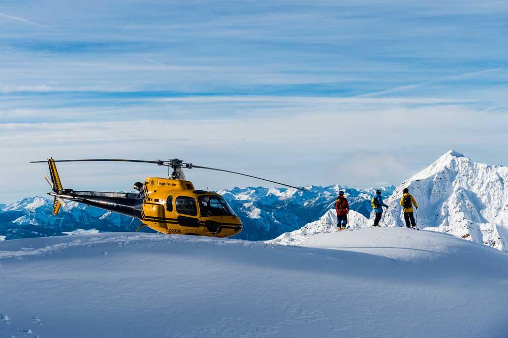 Surveying some of the 80,000 skiable acres in the Stellar tenure. Credit: Mattias Fredriksson.