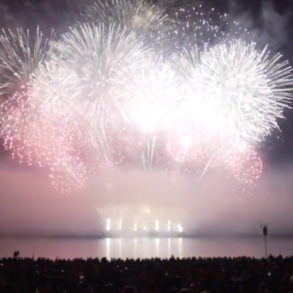 Team Canada's ending performance at the 2019 Honda Celebration of Light.