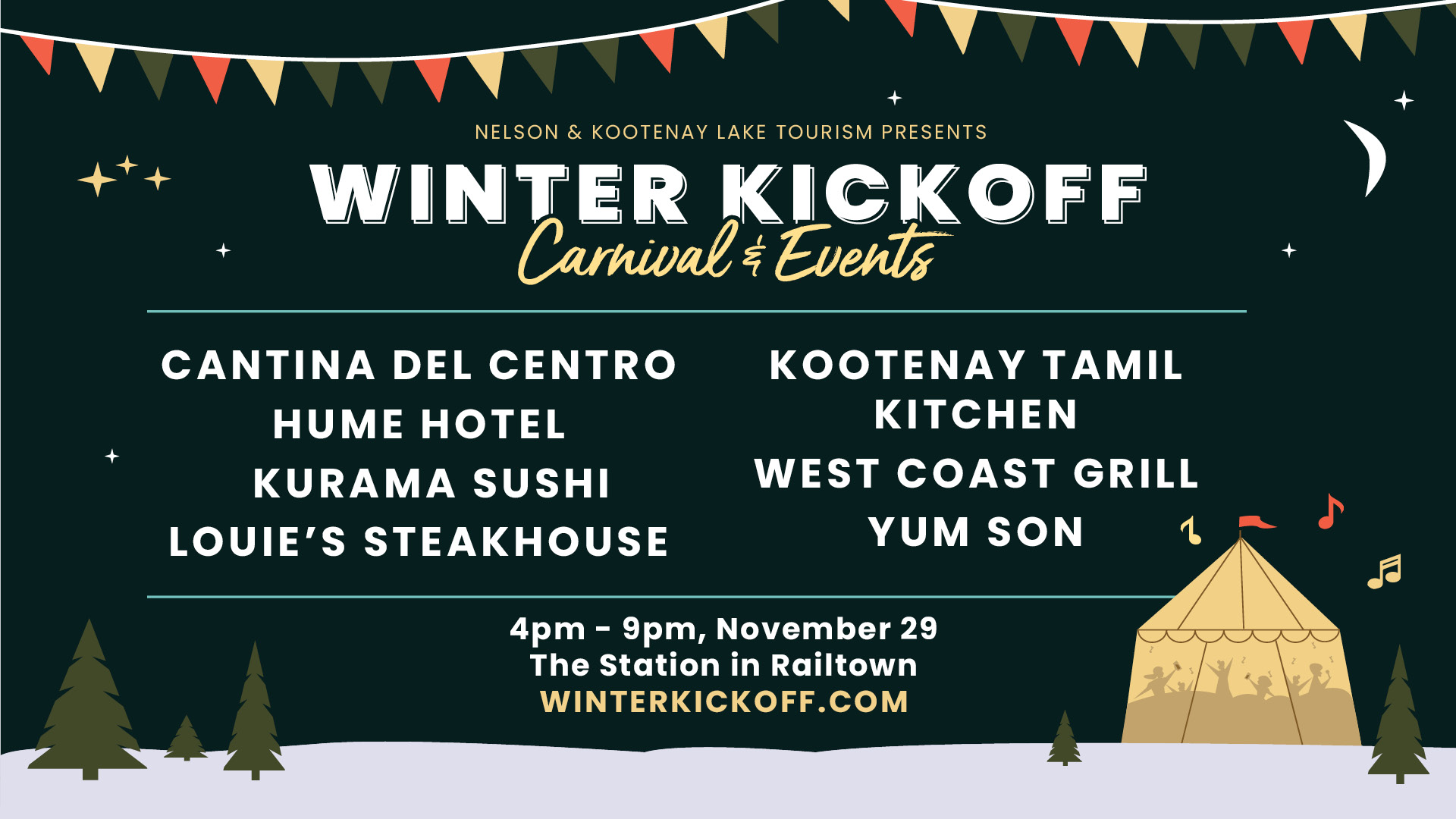 Nelson Kootenay Lake Tourism Winter Kickoff.