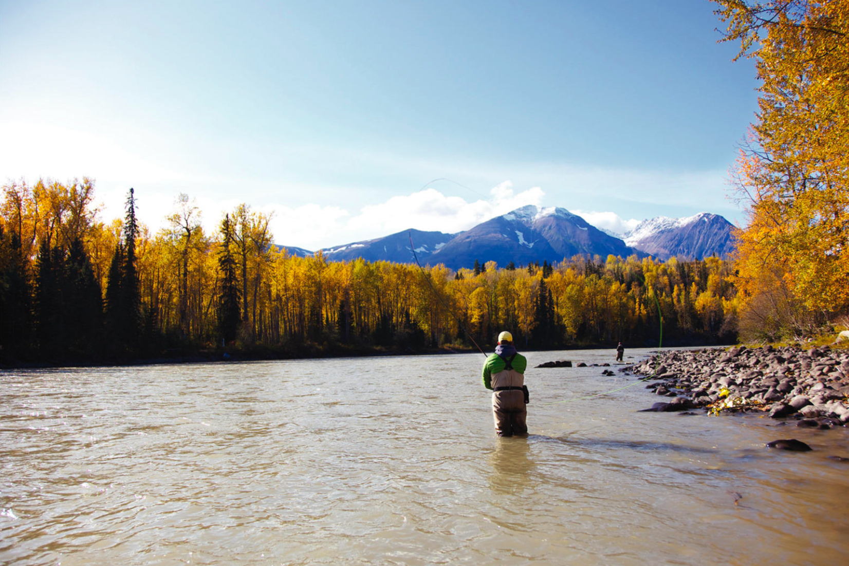 Fishing on the Bulkley River, which runs right through Smithers. Photo by Northern BC Tourism.