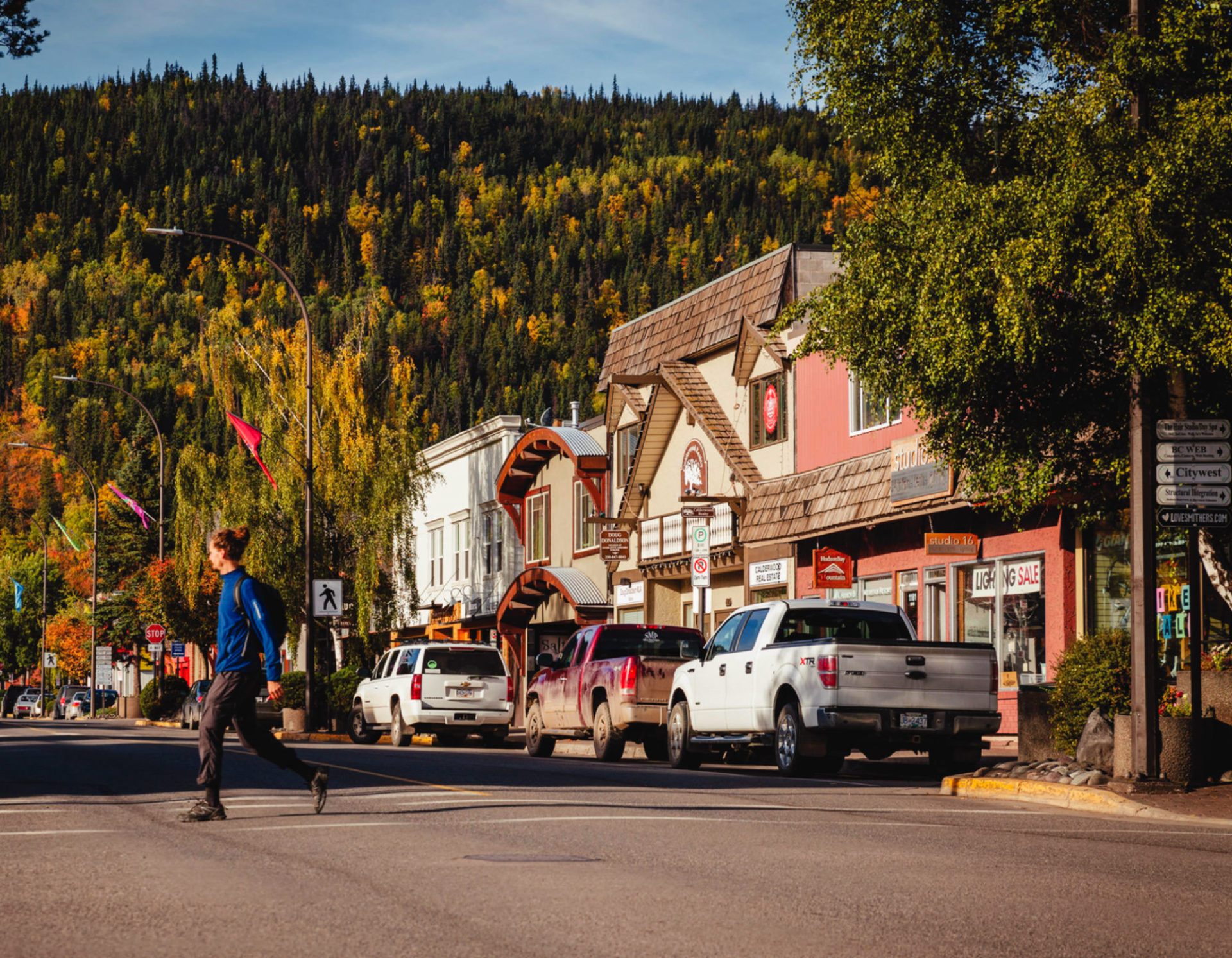 Smithers is known for its independent businesses. Photo by Northern BC Tourism/Marty Clemens.