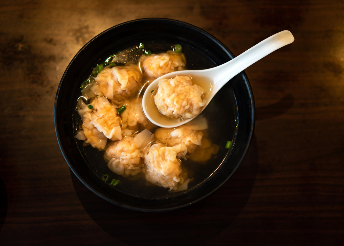 Wontons at Tsim Chai Noodle Restaurant. Photo by Tourism Richmond.