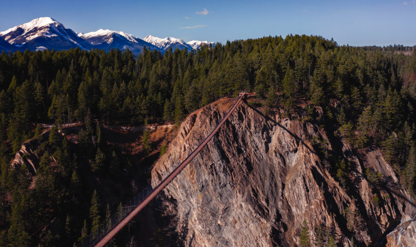 Rocky Mountain Adventure Park—home to Canada's first- and second- highest suspension bridges. Photo by Rocky Mountain Adventure Park.