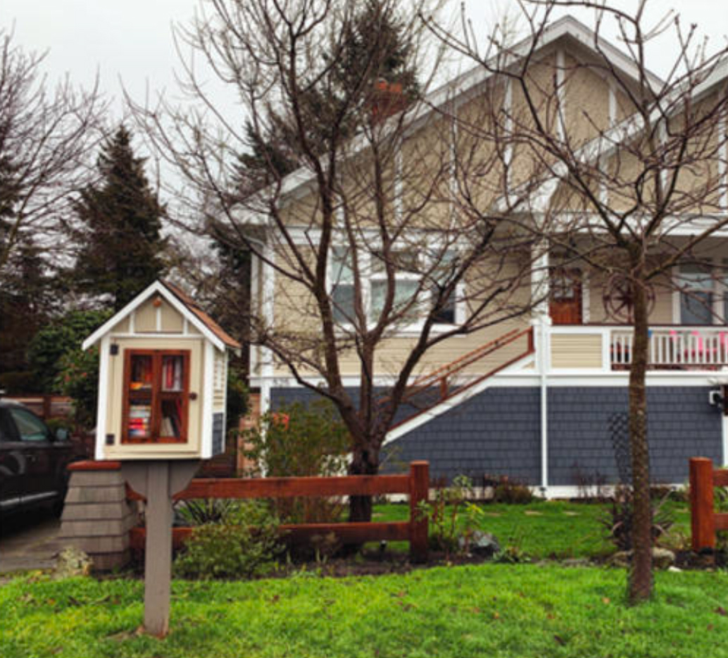 Little Free Libraries. Photo by Jane Mundy.